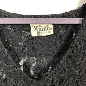 Show Me Your MuMu Tops - Show Me Your MuMu Flora Fan Black Lace Top M/L